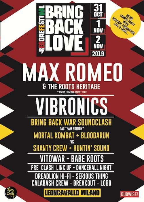 Bring Back Love Reggae Festival 2019