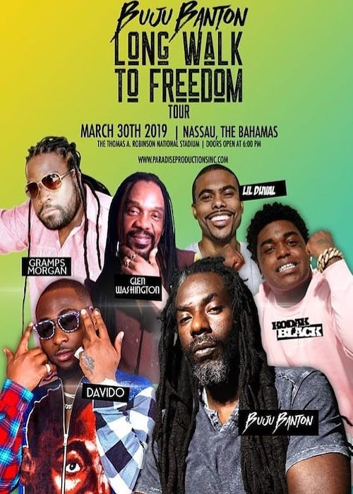 Buju Banton - Long Walk To Freedom in Bahamas 2019