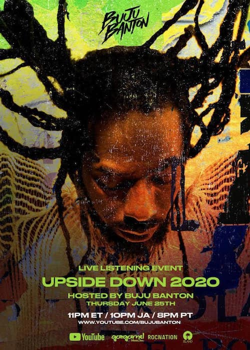 Buju Banton - Upside Down 2020 (Live Listening Event)