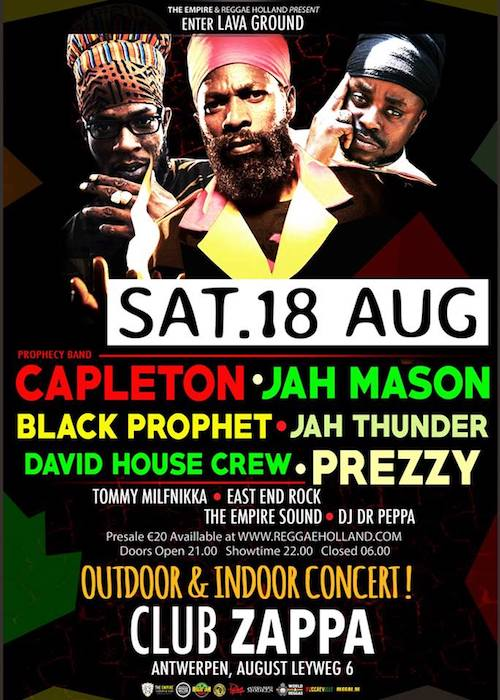 Outdoor Summer Reggae Party 2018
