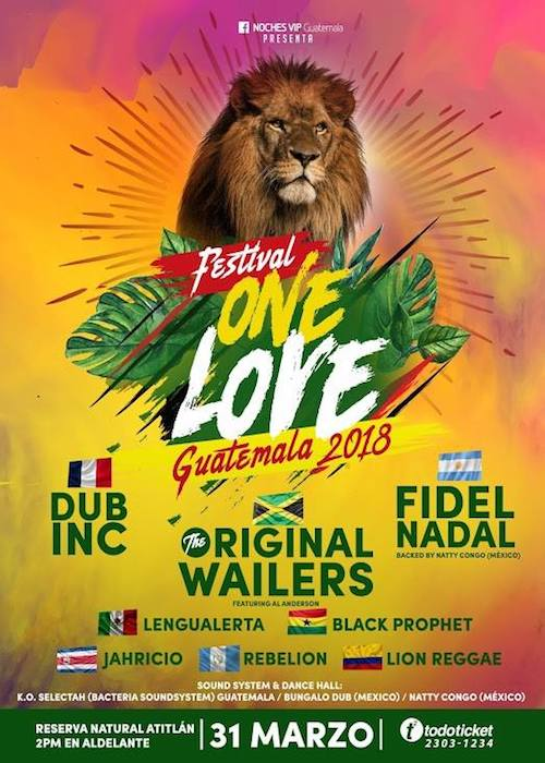 Festival De Reggae One Love Guatemala 2018