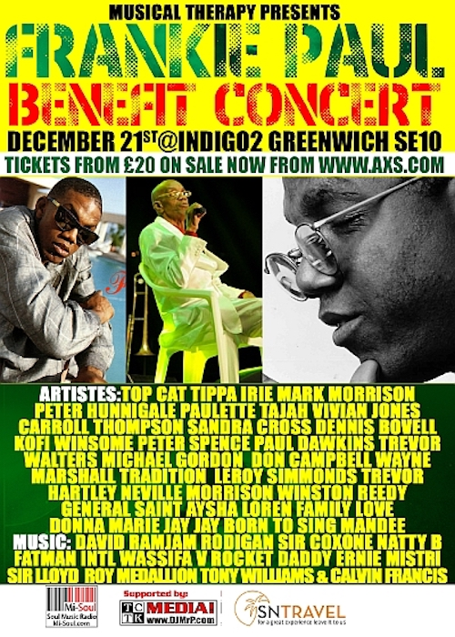 Frankie Paul Benefit Concert 2016