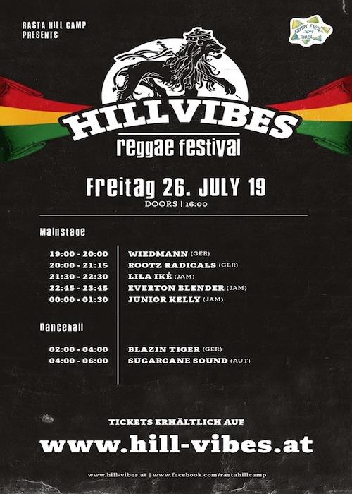 Hill Vibes Reggae Festival 2019