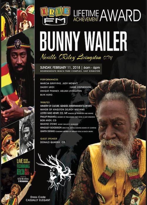Bunny Wailer - Irie FM Lifetime Achievement Award 2018