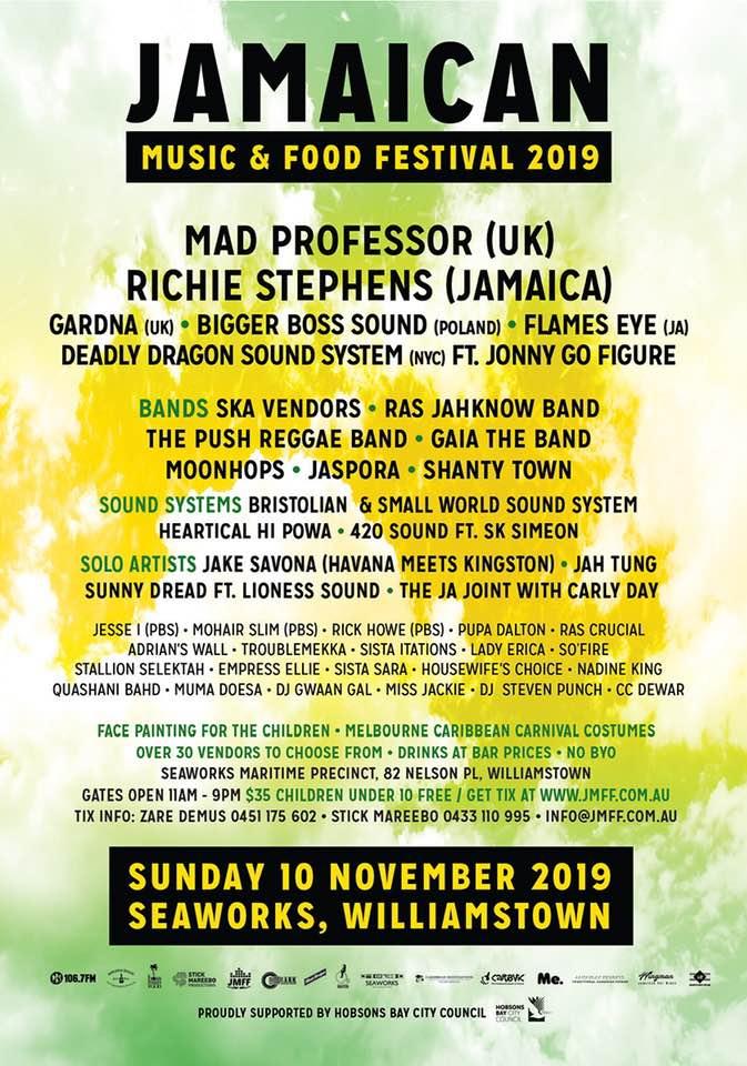 Jamaican Music & Food Festival - Melbourne 2019