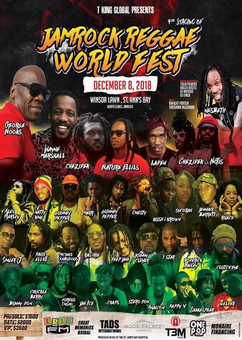 Jamrock World Reggae Fest 2018