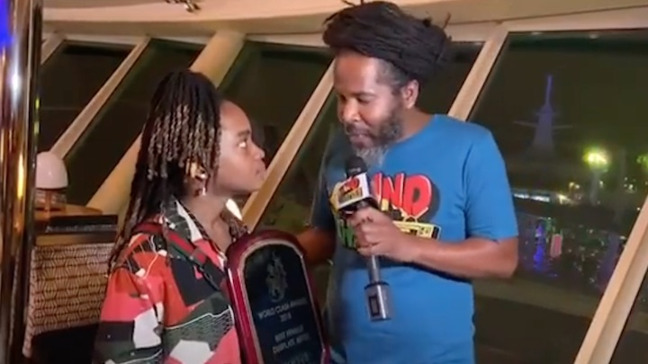 Koffee Receives The World Clash Dubplate Award 2018 [12/12/2019]