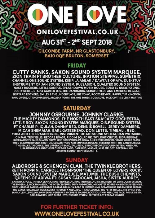 One Love Reggae & Ska Festival 2018