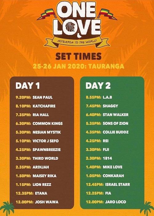 One Love Festival - New Zealand 2020