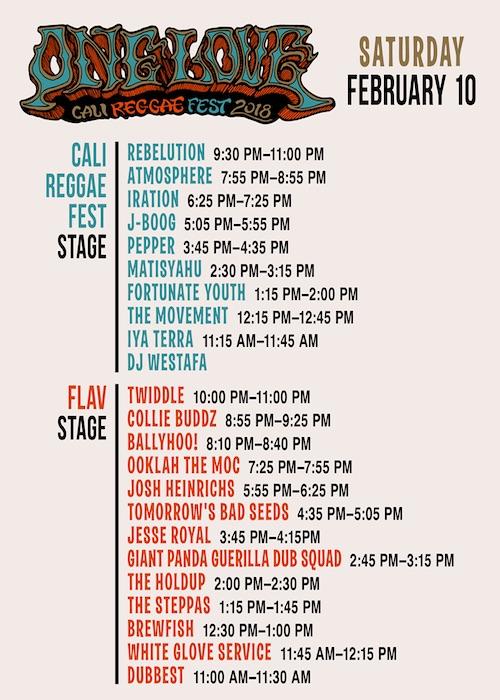 One Love Cali Reggae Fest 2018