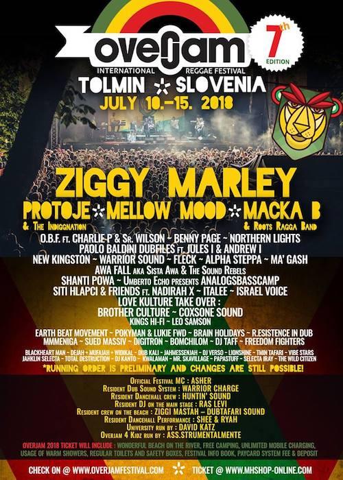 Overjam Reggae Festival 2018