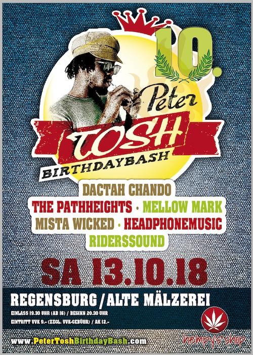 Peter Tosh Birthday Bash 2018