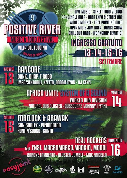 Positive River Music & Food Festival 2018