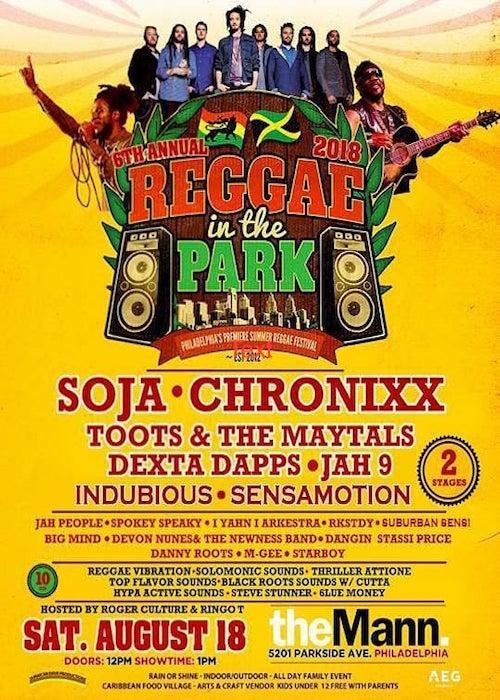 Reggae In The Park 2018