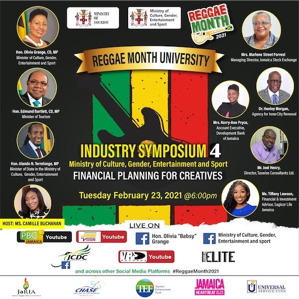Reggae Month University - Industry Symposium #4 2021