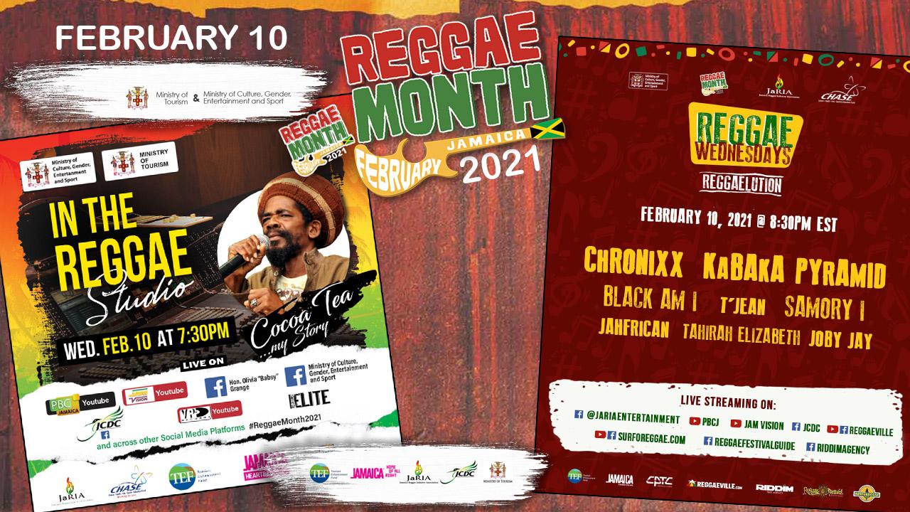 Reggae Month 2021 TV (Live Stream - February 10th) [2/10/2021]
