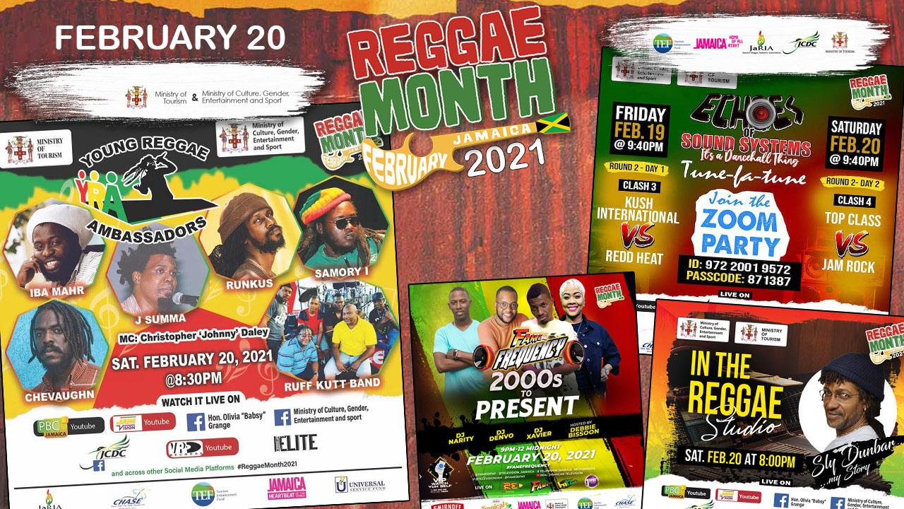 Reggae Month 2021 TV (Live Stream - February 20th) [2/20/2021]