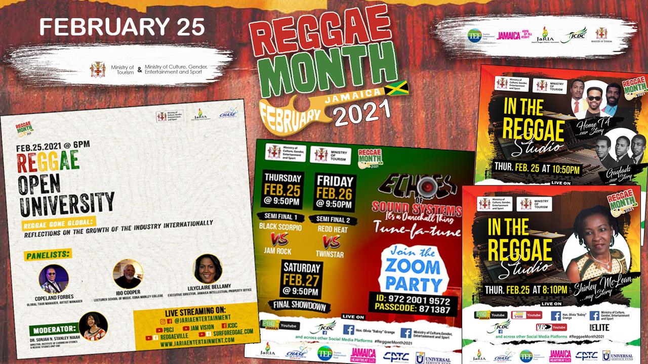 Reggae Month 2021 TV (Live Stream - February 25th) [2/25/2021]