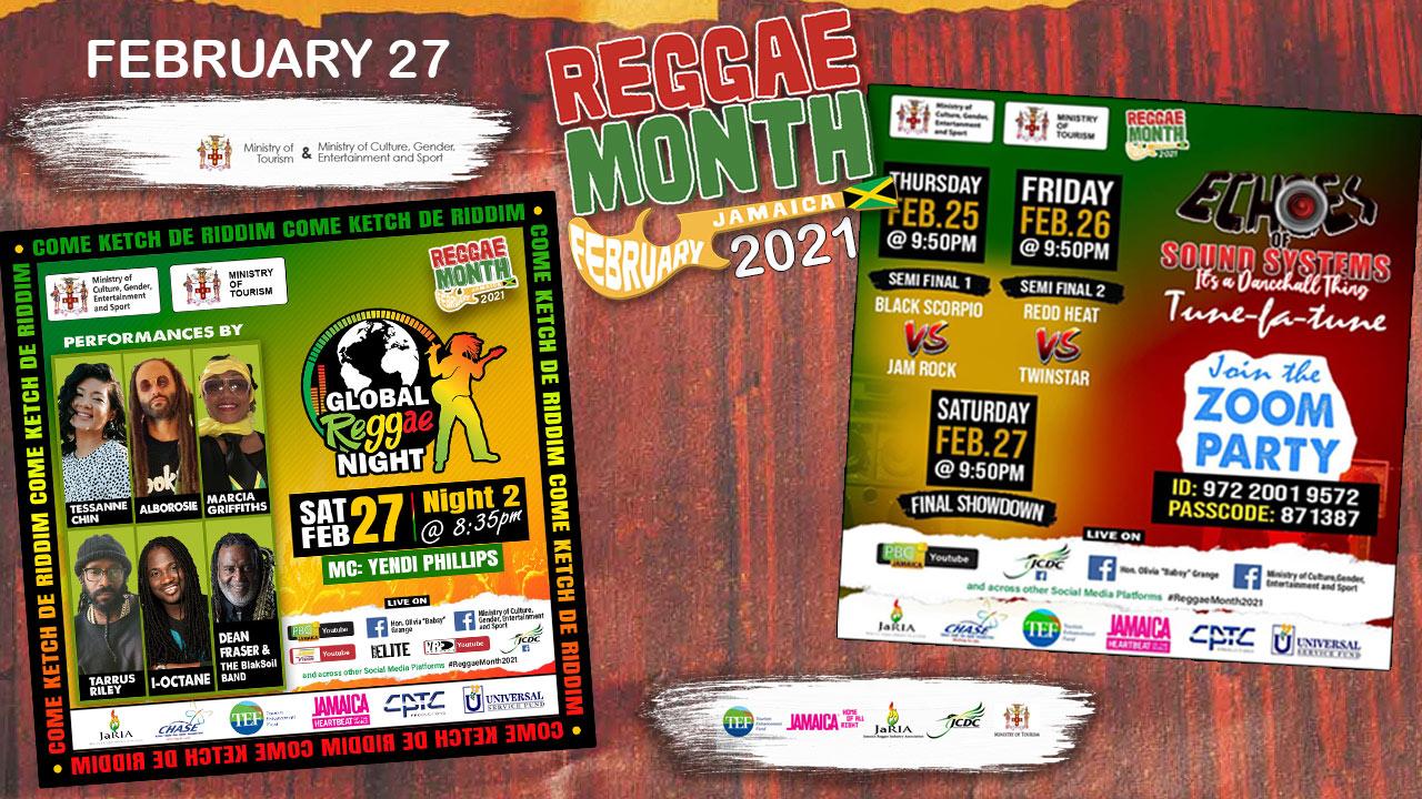 Reggae Month 2021 TV (Live Stream - February 27th) [2/27/2021]