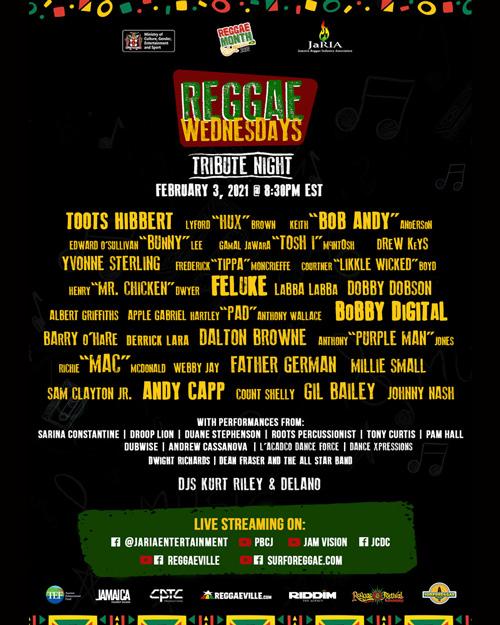 Reggae Wednesdays - Tribute Night 2021