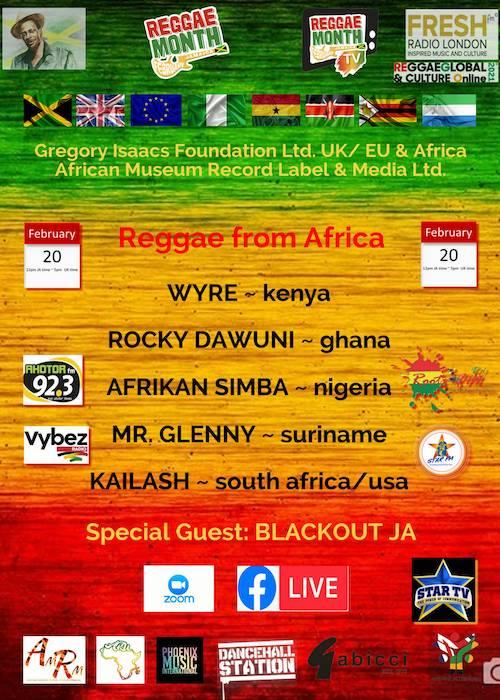 Reggae From Africa 2021