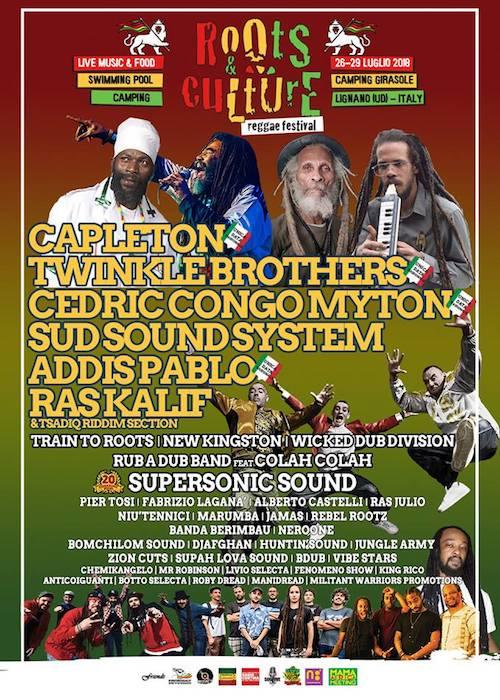 Roots & Culture Reggae Festival 2018