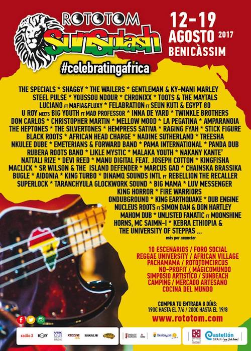Rototom Sunsplash 2017 Reggaeville Com