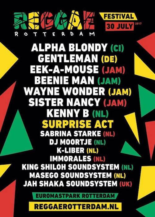 Reggae Rotterdam Festival 2017
