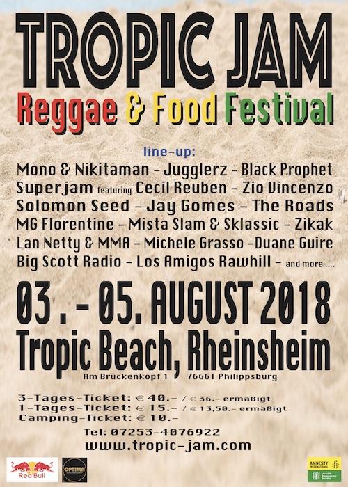 Tropic Jam - Reggae & Food Festival 2018
