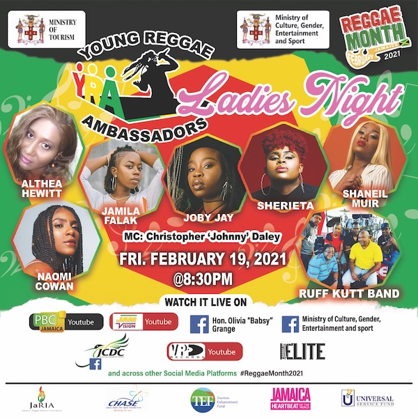 Young Reggae Ambassadors - Ladies Night 2021