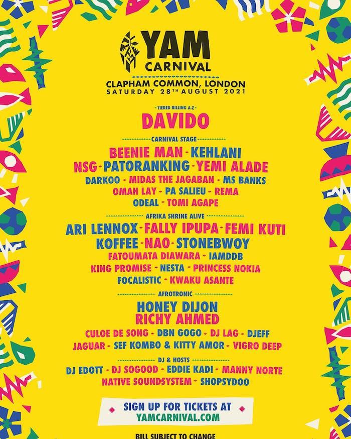 Yam Carnival 2021