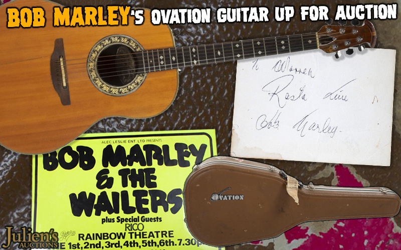 Bob Marley's Ovation Guitar up for Auction