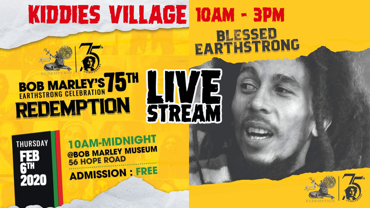 LIVE STREAM - Bob Marley 75th Birthday Celebration in Kingston, Jamaica [2/6/2020]