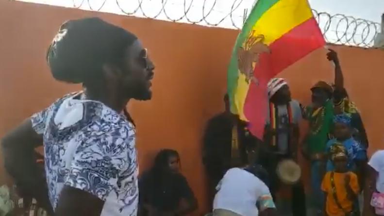 Members of the Nyabinghi Tribe Welcome Buju Banton to Antigua [8/10/2019]
