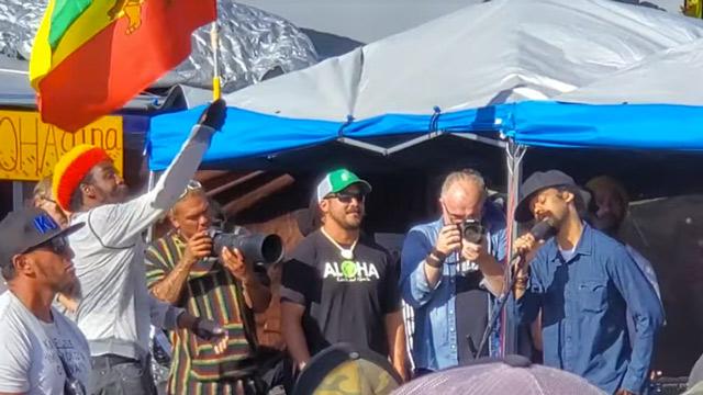 Damian Marley @ Mauna Kea Shutdown - TMT Protests In Hawaii [7/28/2019]