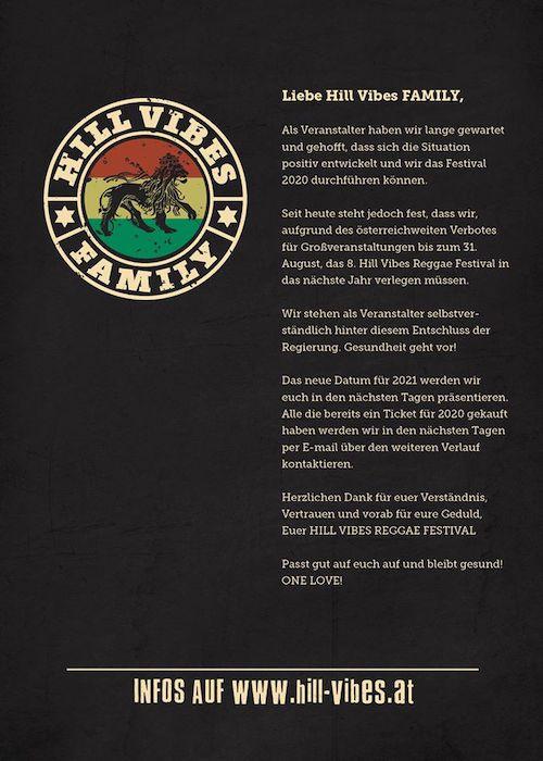 CANCELLED: Hill Vibes Reggae Festival 2020