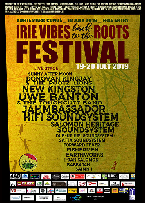 Irie Vibes Roots Festival 2019