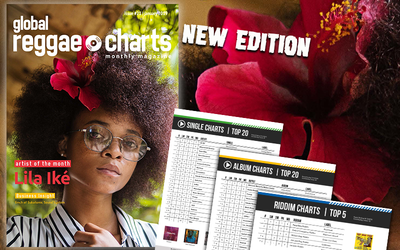 Lila Iké @ Global Reggae Charts - Issue 21 (February 2019)