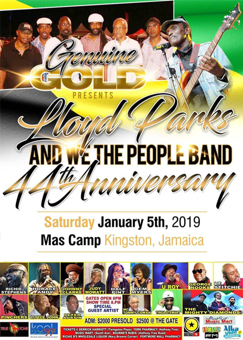 Lloyd Parks and We The People Band - 44th Anniversary 2019