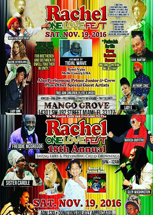 Rachel One Love Fest 2016