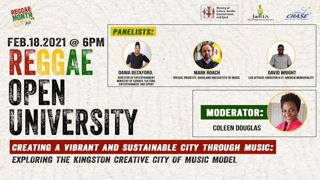 Reggae Open University - Reggae and the Music City (Live Stream) [2/18/2021]