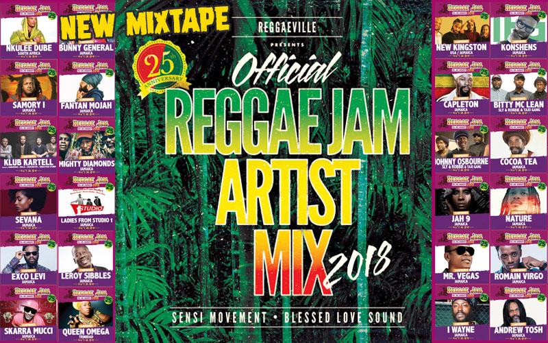 Official Reggae Jam Artist Mix 2018 by Sensi Movement