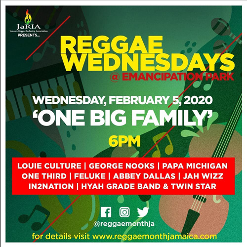 Reggae Wednesdays - One Big Family 2020