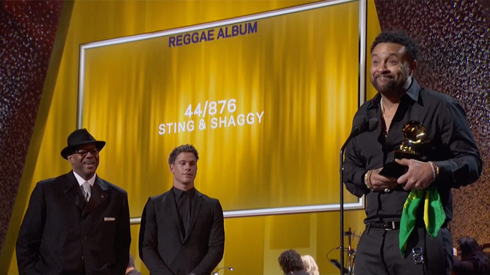 Shaggy's Acceptance Speech - Grammy Award 2019 for 44/876 by Sting & Shaggy [2/10/2019]