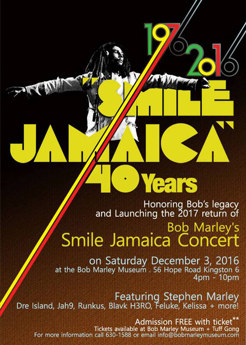 Smile Jamaica - 40th Anniversary Concert 2016