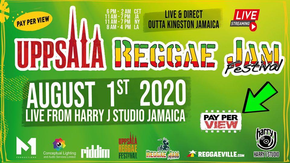 Uppsala Reggae Jam Festival 2020 - Live Stream (Pay-Per-View) [8/1/2020]