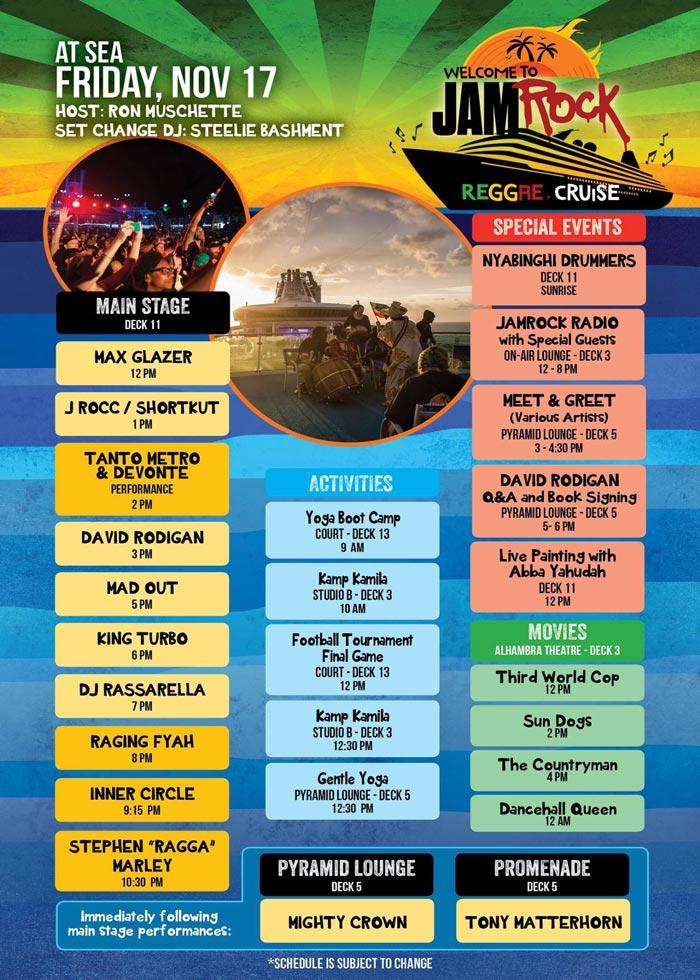 Welcome To Jamrock Reggae Cruise 2017