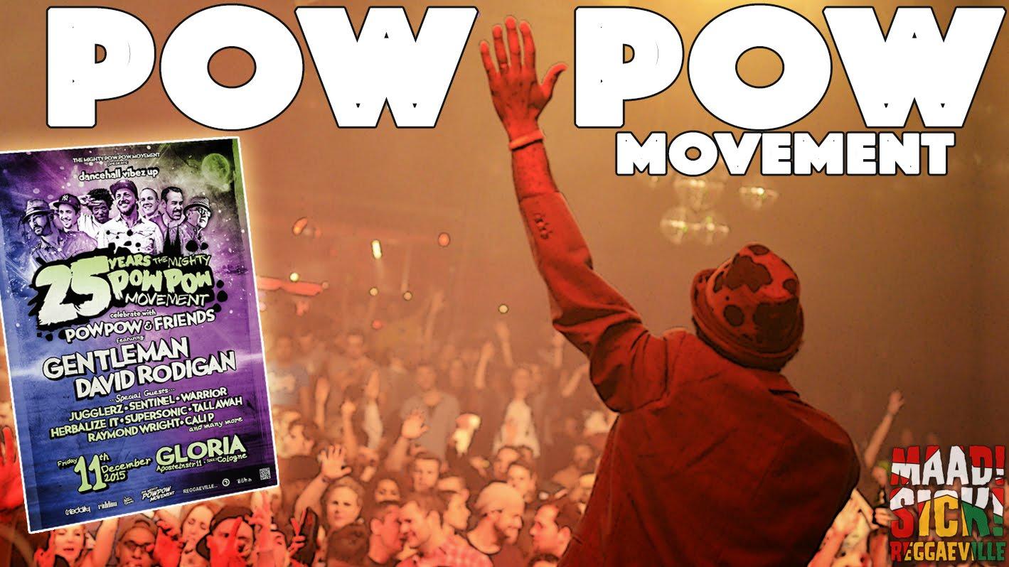 Pow Pow plays Chronixx, Protoje, Jesse Royal @ 25th Anniversary Show in Cologne, Germany [12/11/2015]