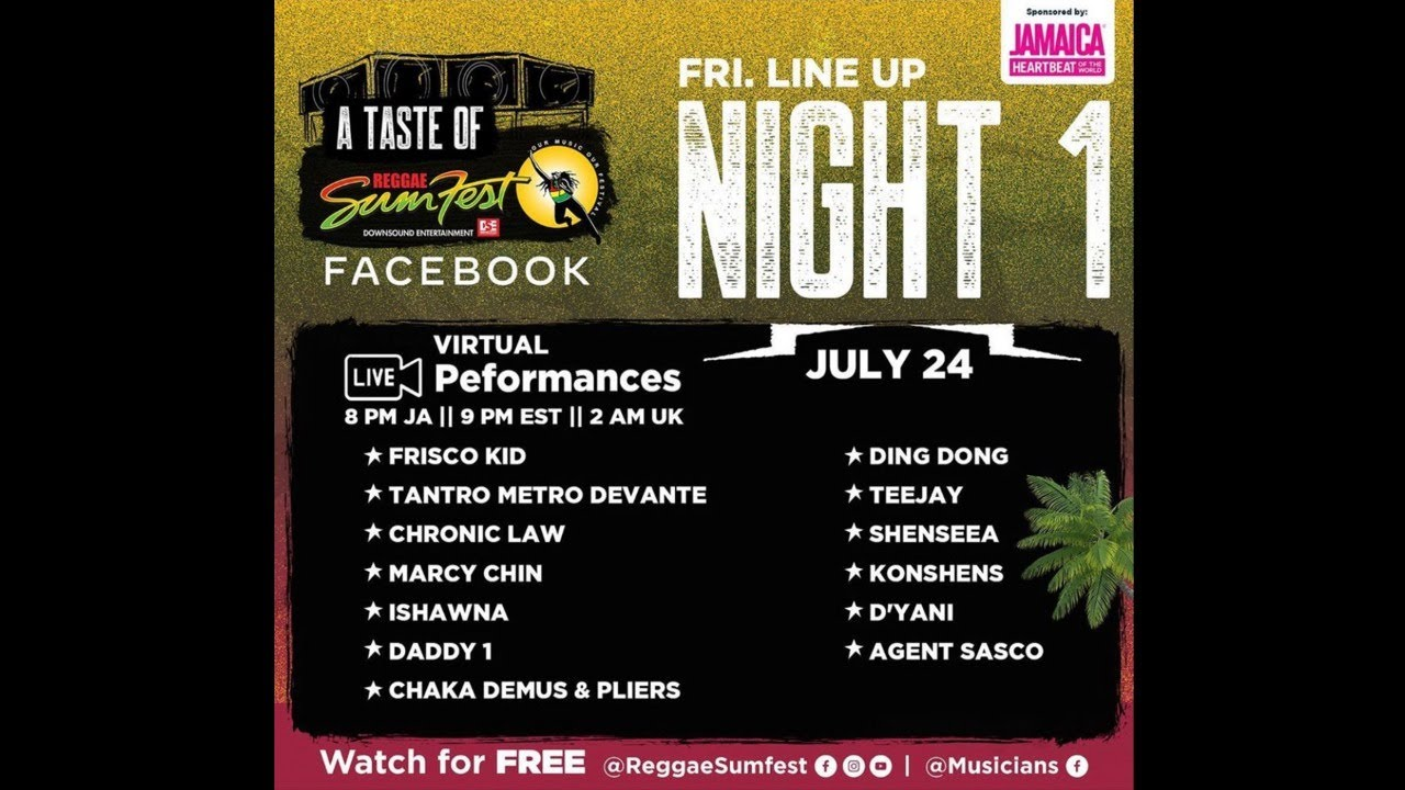 A Taste of Reggae Sumfest 2020 - Night 1 (Live Stream) [7/24/2020]