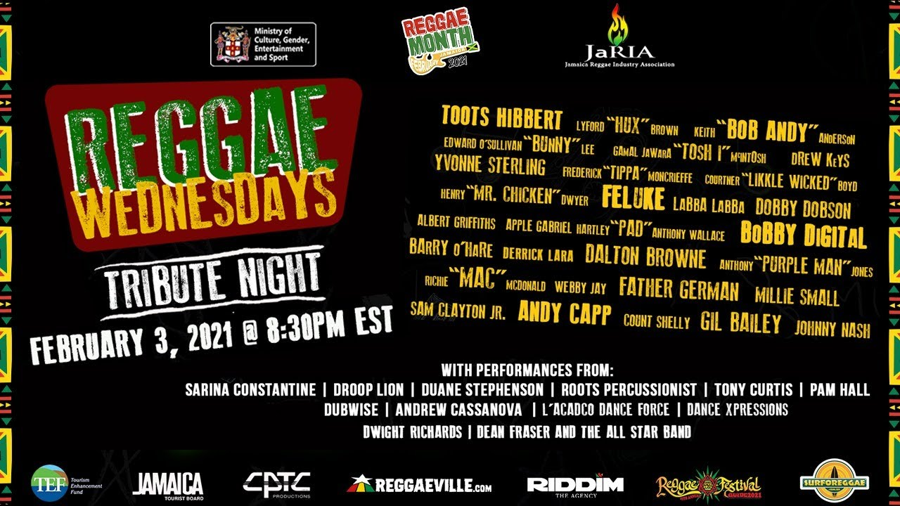 Reggae Wednesdays - Tribute Night 2021 (Live Stream) [2/3/2021]
